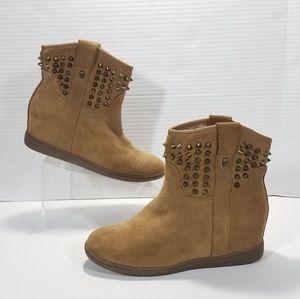 Skechers SKCH+3 Western Ankle Boots Womens Size 11